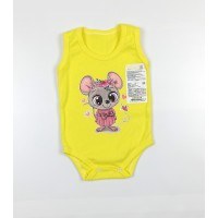Боди-майка детское арт. МК-1-Л желтый мышка