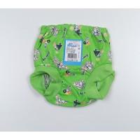 Трусы на памперс арт. 041к зеленый собачки