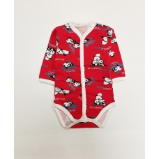 Боди детское арт. 13 красный панды