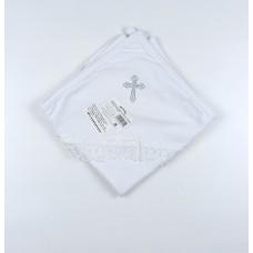 Пеленка с уголком капюшоном для крещения арт. УГ-КР-02