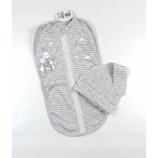 Пеленка-кокон с шапочкой арт. КЛ.910.005.0.244.006 серый