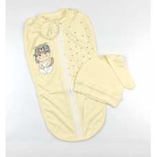 Пеленка-кокон с шапочкой арт. КЛ.910.005.0.261.005 желтый