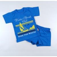 Комплект детский (футболка, шорты) арт. КЛ.333.026.0.213.011 синий