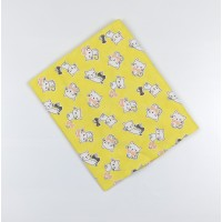 Пеленка трикотажная арт. НПМ желтый коты