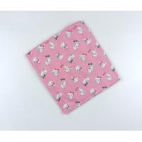 Пеленка трикотажная арт. НПМ розовый кошки
