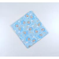 Пеленка трикотажная арт. НПМ голубой мишки