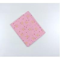 Пеленка трикотажная арт. НПМ розовый мишки