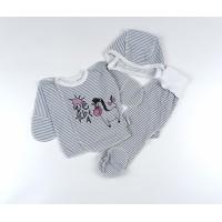 Комплект детский (распашонка, ползунки, чепчик) арт. КЛ.851.007.0.158.012 серый