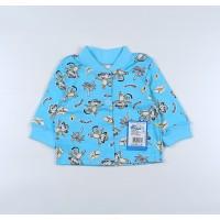 Кофточка детская арт. 001к голубой обезьянки