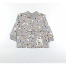 Кофточка детская арт. 001к серый собачки