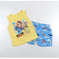 Комплект детский (майка, шорты) арт. PLT0002 желтый