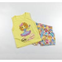 Комплект детский (майка, шорты) арт. CNF0002 желтый