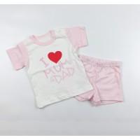 Комплект детский (футболка, шорты) арт. КЛ.333.026.0.138.011 розовый