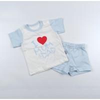 Комплект детский (футболка, шорты) арт. КЛ.333.026.0.138.011 голубой