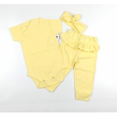 Комплект (боди, штаны, повязка) арт. 9-219 желтый