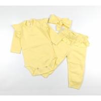 Комплект (боди, штаны, повязка) арт. 31-219 желтый