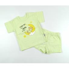 Комплект детский (футболка, шорты) арт. КЛ.333.026.0.205.011 салатовый