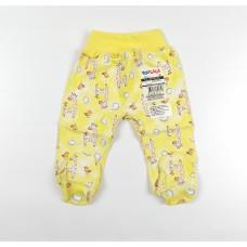 Ползунки детские арт. 00582001 желтый