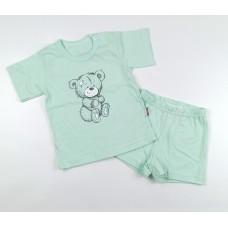 Комплект детский (футболка, шорты) арт. КЛ.333.026.0.196.044 ментоловый