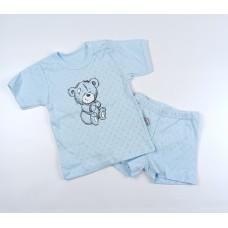 Комплект детский (футболка, шорты) арт. КЛ.333.026.0.196.044 голубой