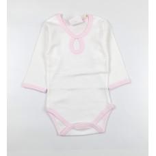 Боди детское арт. 16 бело-розовый