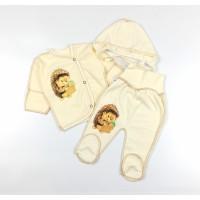 Комплект детский (распашонка, ползунки, чепчик) арт. Ежик
