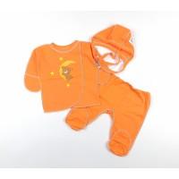 Комплект детский (распашонка, ползунки, чепчик) арт. 1-117 оранжевый