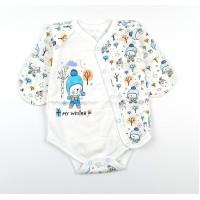 Боди детское с микроначесом арт. MT001 голубой