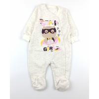 Комбинезон детский с микроначесом арт. CH004 молочный