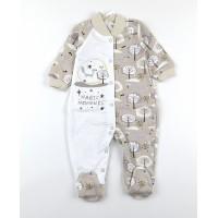 Комбинезон детский с микроначесом арт. MMB004 бежевый