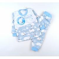 Пижама утепленная арт. MMB005 голубой
