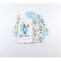 Кофточка с микроначесом детская арт. MT004 голубой
