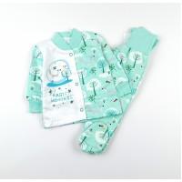 Комплект детский с микроначесом (кофточка, ползунки) арт. MMG006 ментол