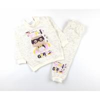 Комплект детский с микроначесом (джемпер, штанишки) арт. CHG002 молочный
