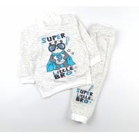 Комплект детский с микроначесом (джемпер, штанишки) арт. CH002 белый