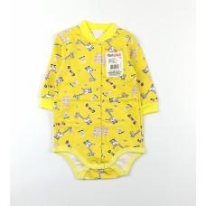 Боди детское с микроначесом арт. 077ф желтый