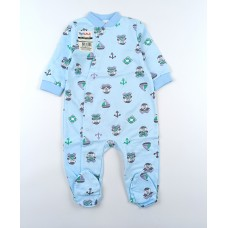 Комбинезон детский с микроначесом арт. 01203001 голубой мишки-2