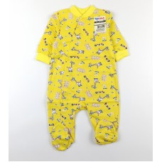 Комбинезон детский с микроначесом арт. 01203001 желтый жирафы