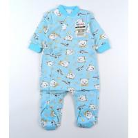 Комбинезон детский с микроначесом арт. 01203001 голубой мишки