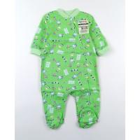 Комбинезон детский с микроначесом арт. 01203001 зеленый