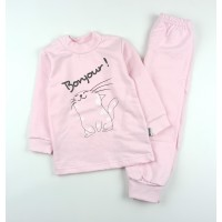 Комплект детский с микроначесом (кофточка, штанишки) арт. КЛ.332.050.0.271.055 розовый