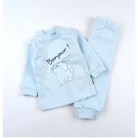 Комплект детский с микроначесом (кофточка, штанишки) арт. КЛ.332.050.0.271.055 голубой