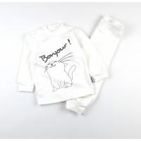 Комплект детский с микроначесом (кофточка, штанишки) арт. КЛ.332.050.0.271.055 белый