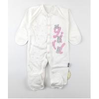 Комбинезон детский с микроначесом арт. КЛ.310.009.0.281.055 бело-розовый
