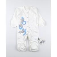 Комбинезон детский с микроначесом арт. КЛ.310.009.0.281.055 бело-голубой