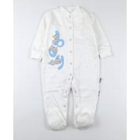 Комбинезон детский с микроначесом арт. КЛ.310.005.0.281.055 бело-голубой
