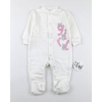 Комбинезон детский с микроначесом арт. КЛ.310.005.0.281.055 бело-розовый