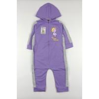 Комбинезон детский с микроначесом арт. 11023001 фиолетовый