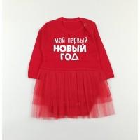 Боди-платье арт. 37-117 новогодний