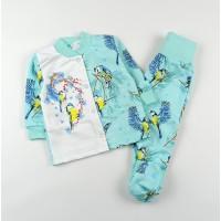 Комплект детский с микроначесом (кофточка, ползунки) арт. ZS0004 ментол